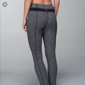 Lululemon skinny groove pant legging pique black 4